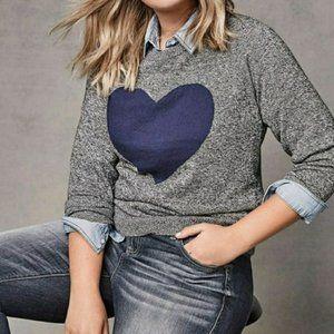 Torrid Raglan Heart Sweater